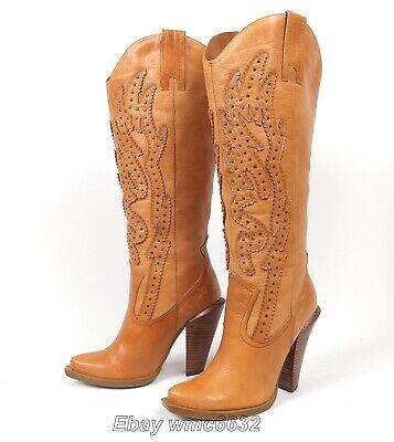 Abilene Western Boots (Jessica Simpson Abilene Cowboy Cowgirl Boots - Wmn's 6B Excellent Alan Western )