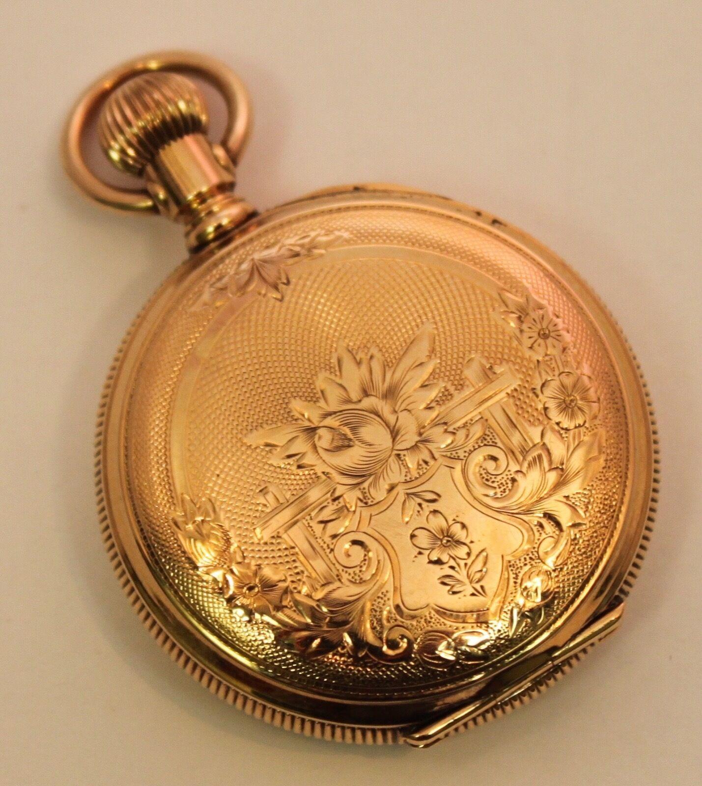 Vintage Elgin 14K Solid Yellow Gold 35mm Hunter Pocket-Watch 34 Grams 1900s?