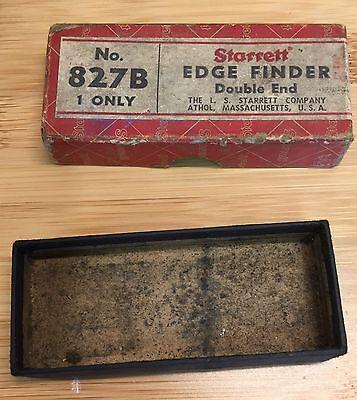 Vintage Starrett Model 827b Edge Finder Box Only