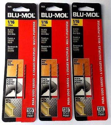 Blu Mol 1 16  High Speed Drill Bit 6625 3 2 Packs