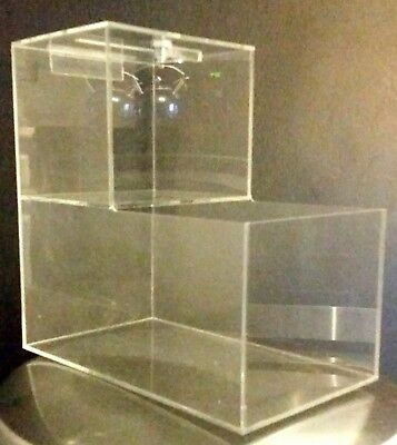 5 New Locking Acrylic Honor Candy Selling Donation Box. Vending Route Business