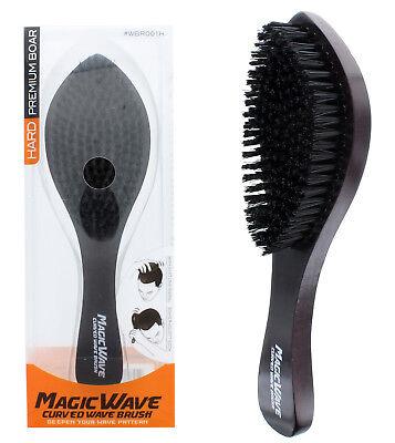 Magic Wave Brush Hard Premium Boar Bristles Wooden Handle Quality WBR001H NEW