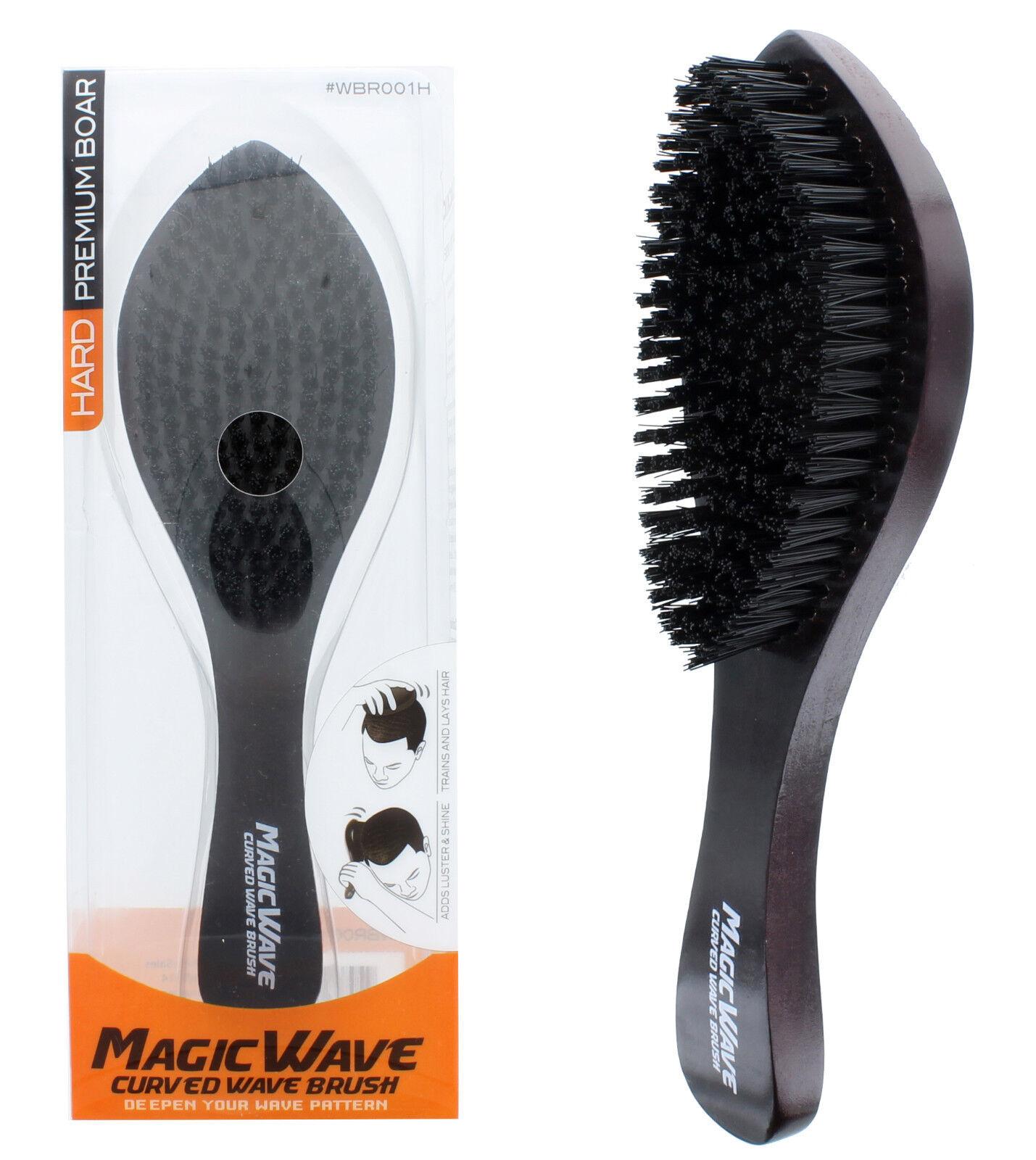 Black Ice Magic Wave 9.25'' Curved Wave Brush Hard Premium