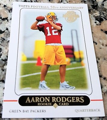 AARON RODGERS 2010 Topps Reprint 2005 Rookie Card RC Packers HOT Superbowl MVP for sale  Shipping to Canada