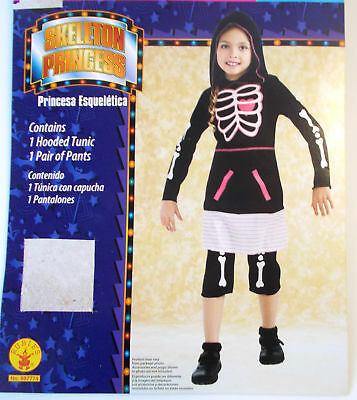 Skeleton Princess Dress Child Costume 4-6 8-10 10-12 NIP (Skeleton Princess)