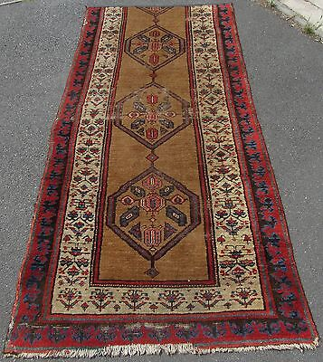 ANTIQUE SHABBY CHIC COUNTRY HOUSE NORTH WEST PERSIAN SARAB RUG  FRAGMENT CHEAP ()