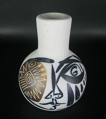 Designer Keramik Vase gemarkt wohl 70er / 80er Jahre Design Pottery 12,5cm