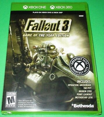 Fallout 3 -- Game of the Year Edition Xbox One + Xbox 360! *New! *Free Shipping!