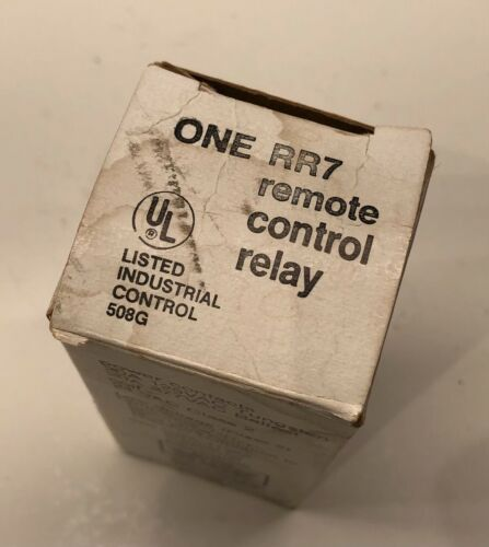GE RR7 Remote Control Relay 20A 125VAC Contacts 24 VAC Low Voltage - New in Box
