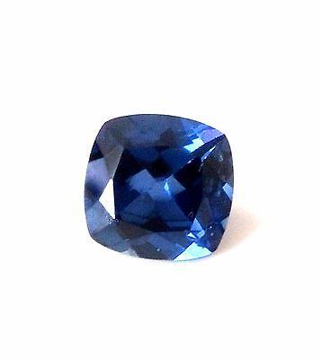 Blue Sapphire 9x9mm cushion cut Lab Created