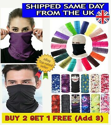 Balaclava Cycling Neck Tube Bandana Scarf Snood Biker Face Mask Warmer Multi use