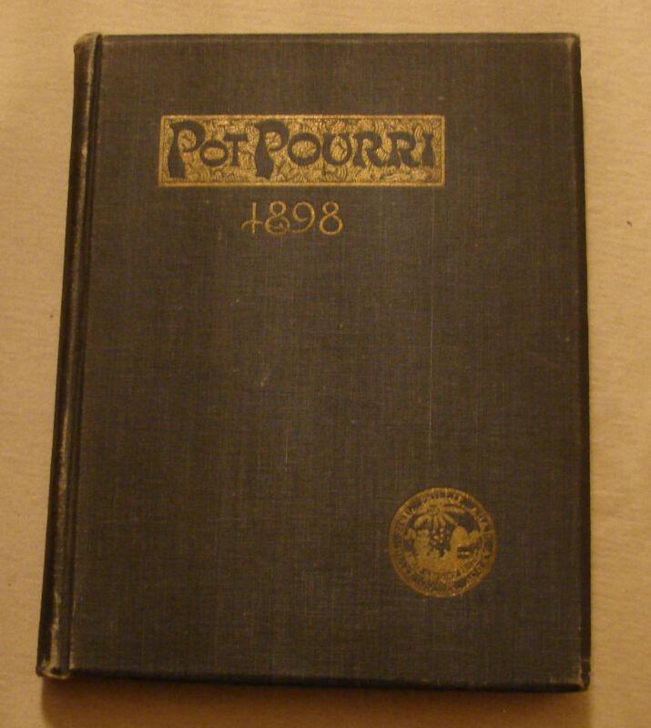 1898 PHILLIPS ANDOVER ACADEMY ANNUAL YEARBOOK * Pot Pourri Vol. VI