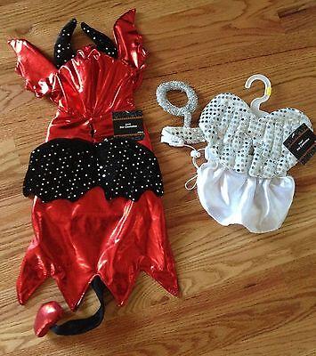 DEVIL or ANGEL  Halloween Dog Pet Costume  (New with Tags) - Devil Dog Halloween Costume