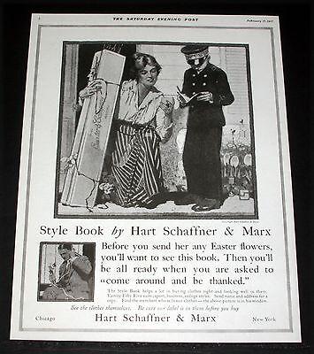 1917 OLD MAGAZINE PRINT AD, HART SCHAFFNER & MARX,