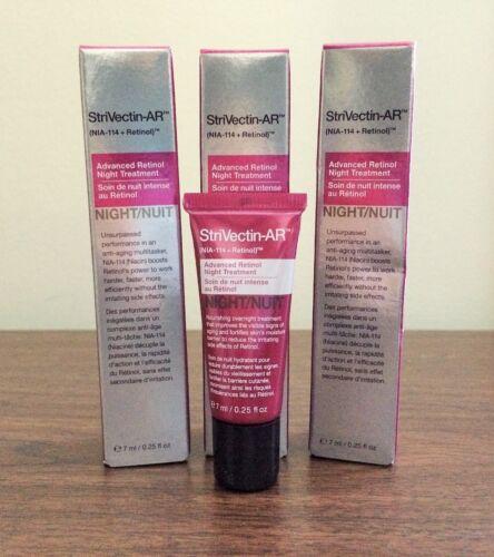 StriVectin AR Advanced Retinol Night Treatment Cream .25 OZ (7 mL) NIB Lot of 3!
