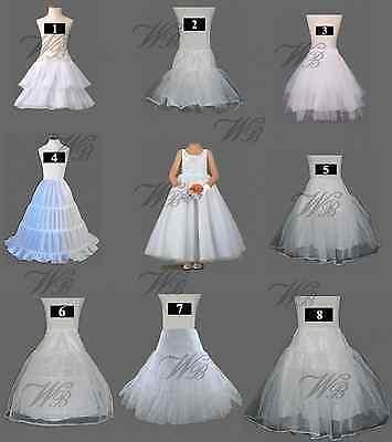 White Flower Girl/Junior petticoat/crinoline/underskirt/slip for wedding/Prom