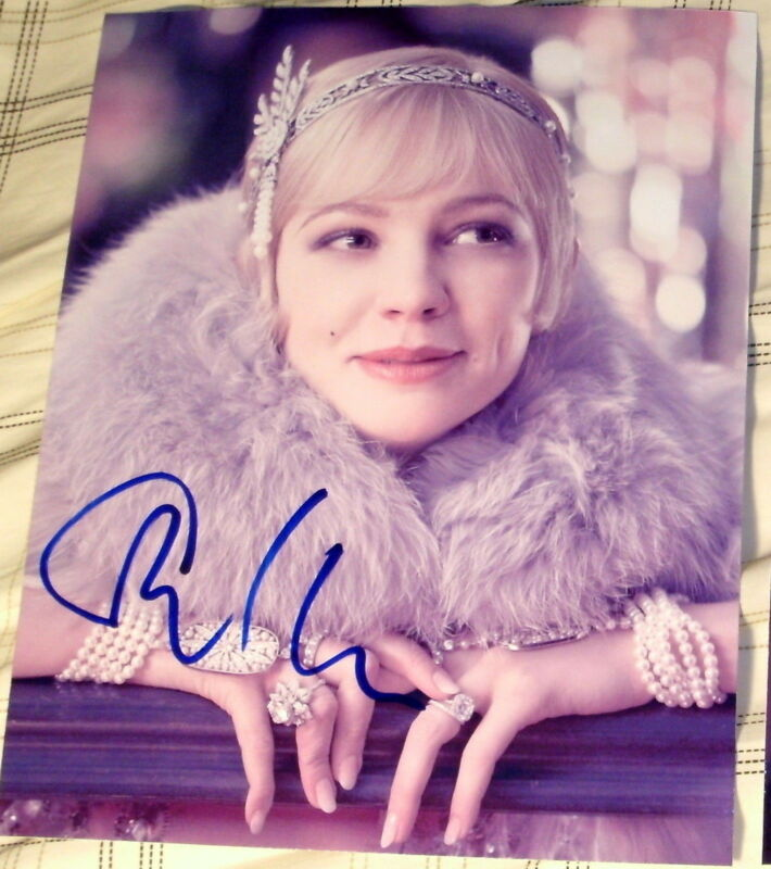 "CAREY MULLIGAN SIGNED AUTOGRAPH ""THE GREAT GATSBY"" ELEGANT SEXY DIAMONDS PHOTO"