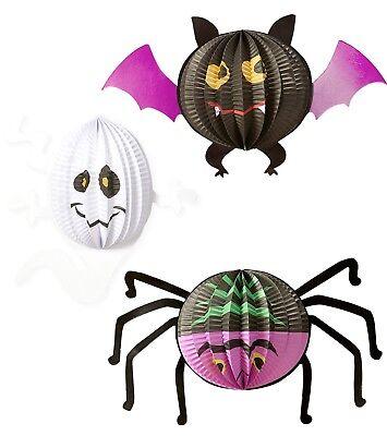 Halloween Lampion Set 3-teilig NEU - Partyartikel Dekoration Karneval Fasching