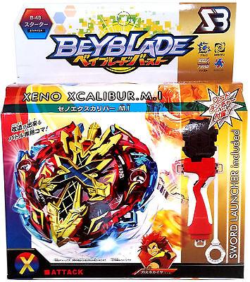 Xeno Xcalibur / Excalibur Burst Beyblade Starter NIP w/ Launcher & Grip B-48