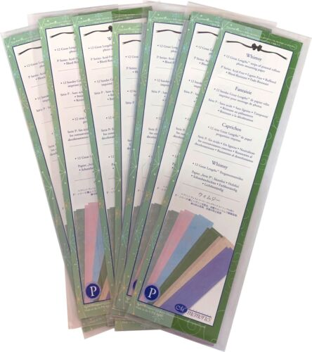 LOT OF 7: Creative Memories Whimsy 12 Great Lengths Printed Vellum Strips