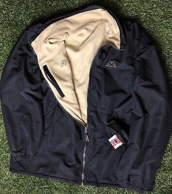 Vintage Kappa Reversible Jacket Fleece Men's 2XL Black Cream