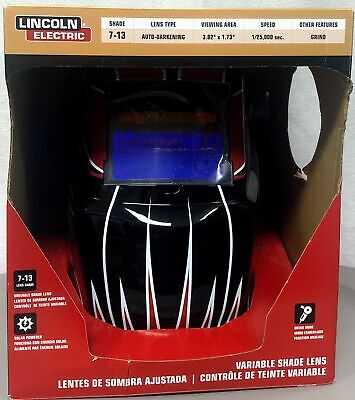Lincoln Electric Auto Darkening Variable Shade Red Welding Helmet-015082913339