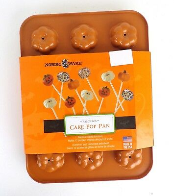 Nordic Ware Halloween Cake Pop  Pan Orange Holiday Non Stick 12 Count Baking](Halloween Cake Pop Pans)
