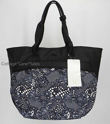 1c217cfef9c NEW LULULEMON Everything Bag Pretty Lace White Black Gym Yoga Travel FREE  SHIP