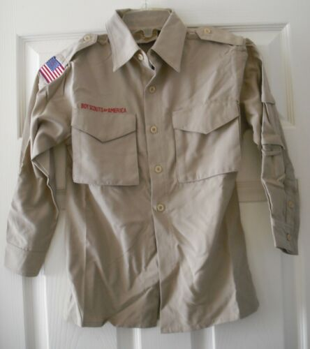 Boy Scout Official Uniform Shirt Youth Small UV 40+ Supplex Nylon Roll Up Sleeve