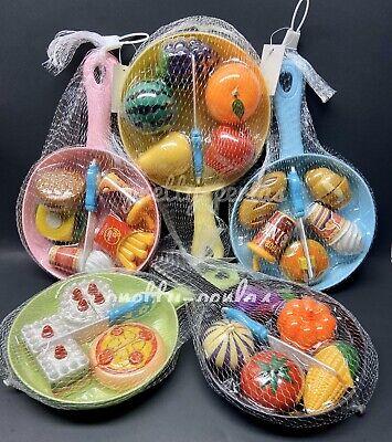 2PC-Pretend Food Kitchen Set Pans Toy Play Hamburger Cake Shop Kids Gift Xmas ()