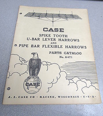 Case Spike Tooth U Pipe Bar Lever Flexible Harrows Parts Catalog Manual 11-50