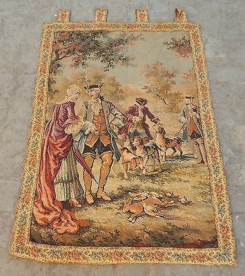 Vintage French Beautiful Scene Tapestry 106x75cm (A438)