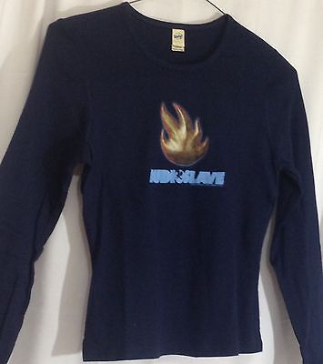 Audioslave Shirt Chris Cornell Women's Flame Blue Longsleeve Tshirt Large