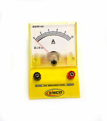 Eisco Labs Analog Ammeter Dc Current Meter 0 - 10 Amp 0.2a Resolution