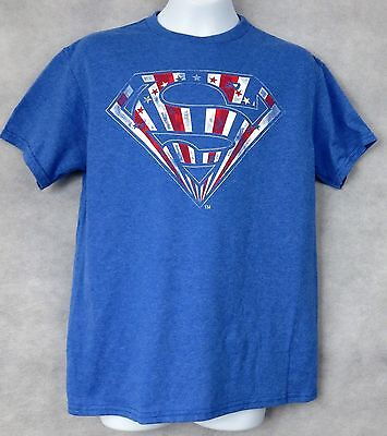 Superman Officially Licensed Boys T-Shirt Red White and Blue Free Shipping