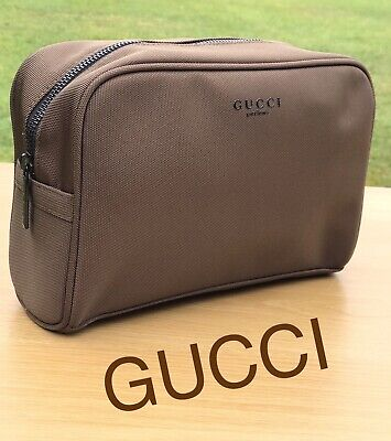 GUCCI MENS WASH BAG TRAVEL POUCH  TOILETRY BAG Brand New FREE (Gucci Delivery)
