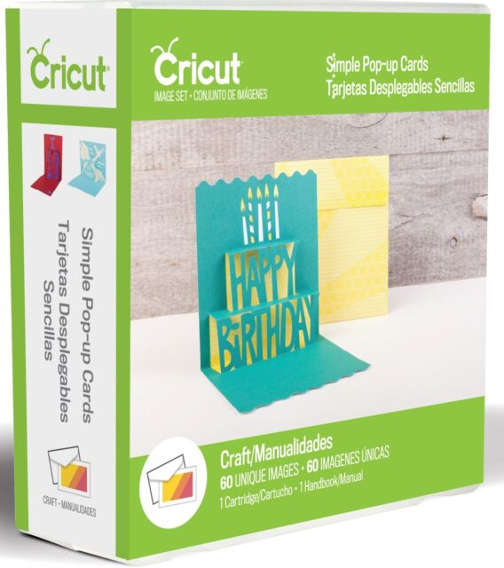 Cricut Cartridge - Simple Pop-Up Cards with Envelopes - 30 Cards, 30 Envelopes
