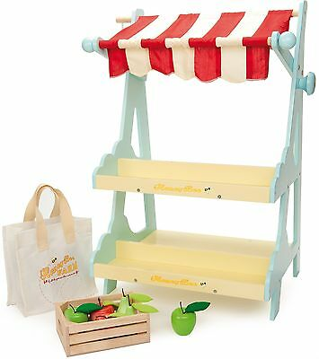 Le Toy Van HONEYBAKE HONEYBEE MARKET Wooden Shop/Stall Kids Pretend Play BN