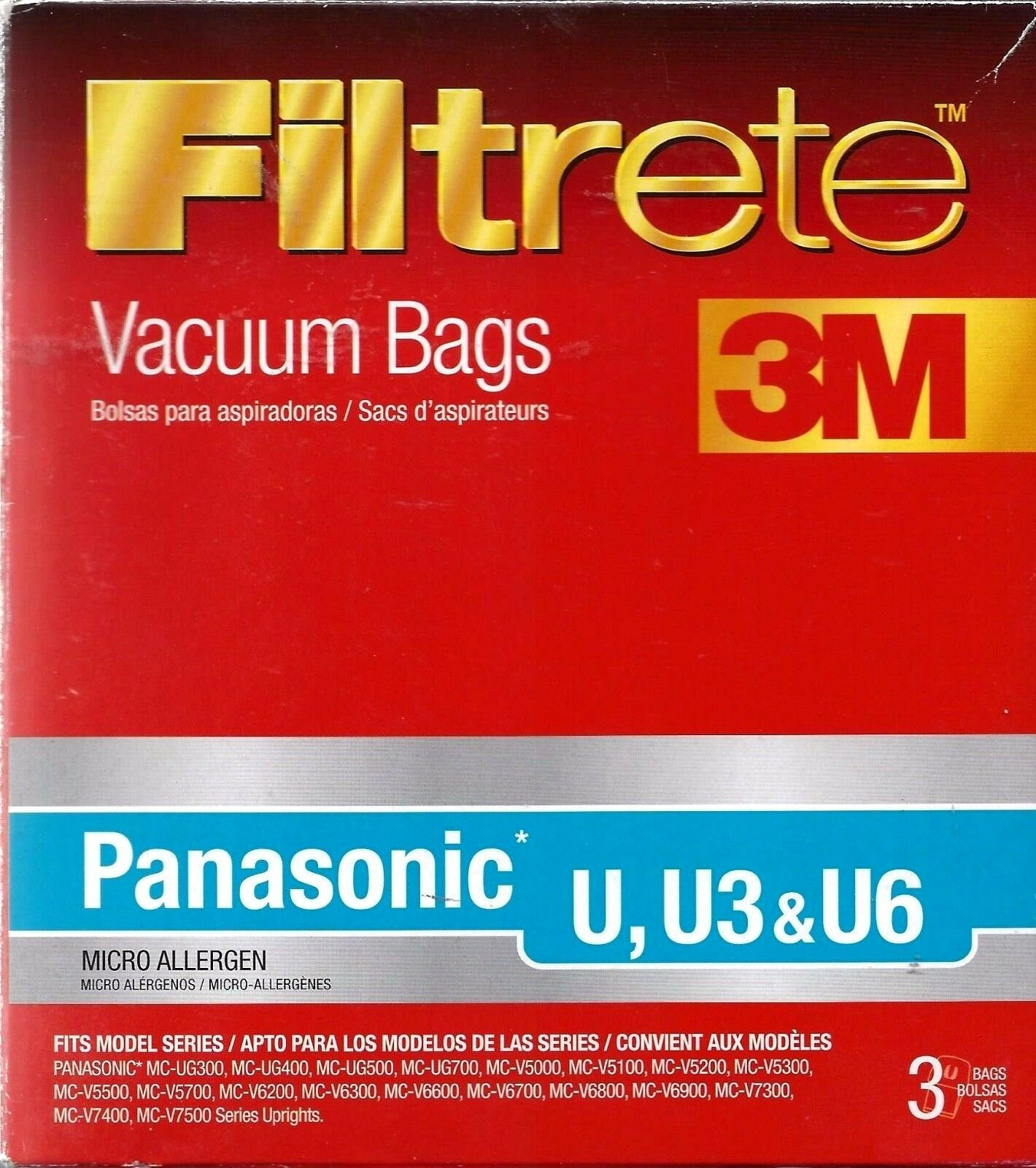 3m - Filtrete Panasonic U Micro Allergen Bag