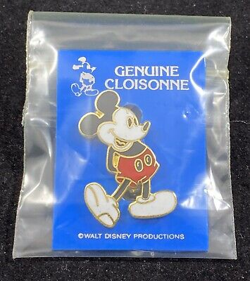 Disney CLASP Pin - Mickey Mouse - Genuine Cloisonne Genuine Disney Mickey Mouse