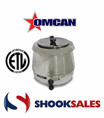 Omcan Fw-cn-0010-s 19074 Commercial 10 L Stainless Steel Soup Kettle Food Warmer