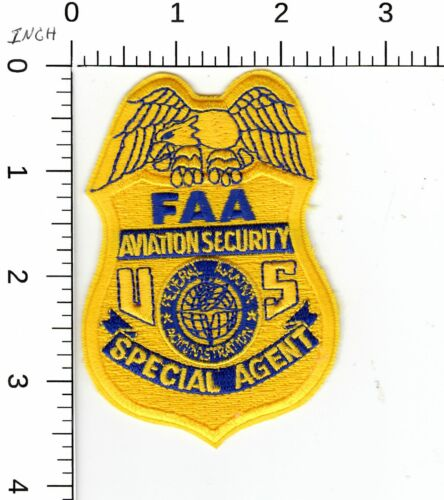 FAA  AVIATION SECURITY SPECIAL AGENT DC COLLECTIBLE MEMORABILIA POLICE PATCH