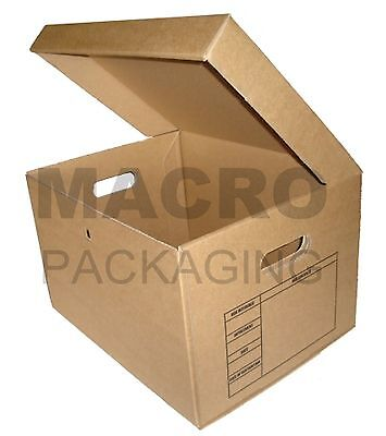 10 ARCHIVE REMOVAL CARDBOARD FILING A4 STORAGE Box 24HR