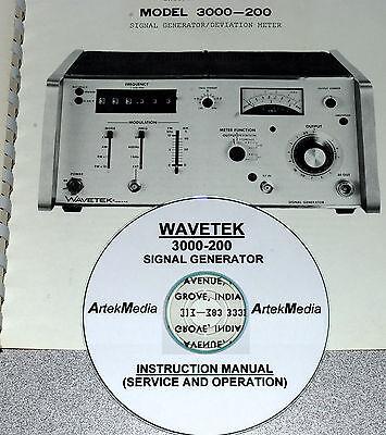 Wavetek 3000-200 Service Operating Manual Very Good Schematics