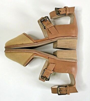 Anthropologie Intentionally Blank Buckle Sandals Womens Size 5