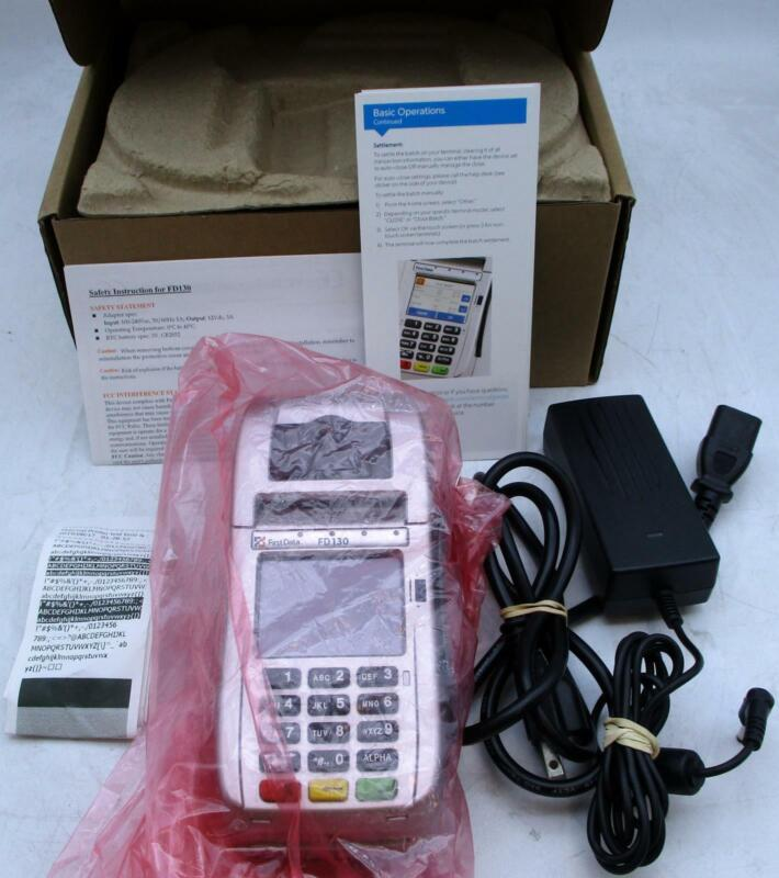 FirstData FD130 Credit Card Terminal POS with Adapter