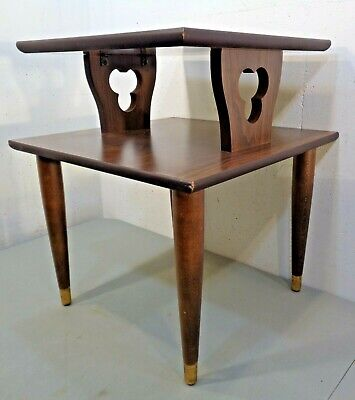Midcentury Table Accent Piece Plant Stand Accent Table Heirloom Table Small Modern End Table Mission Style Maple Side Table