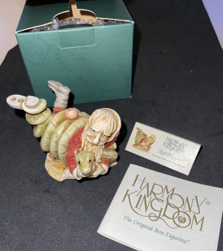 Harmony Kingdom Santa & Snake GIFT WRAPPED Christmas Trinket Box 2004 IN BOX