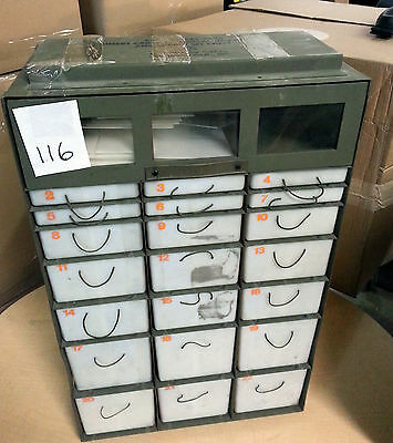 22 Drawer Insert Military Medical Supply Chest Case Army Ifac Large Cabinet