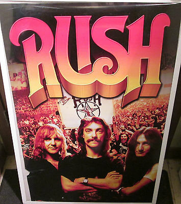 RUSH POSTER LIMITED NEW RARE ROCK  2016 FUTURE COLLECTABLE CANADIAN ROCKERS